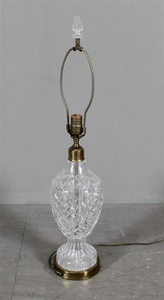 WATERFORD CRYSTAL VASE SHAPED TABLE LAMP - 30