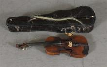 UNKNOWN MAKER VIOLIN, WITH BOW AND CASE