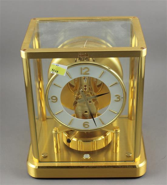 BRASS ATMOS CLOCK WITH WHITE DIAL 6