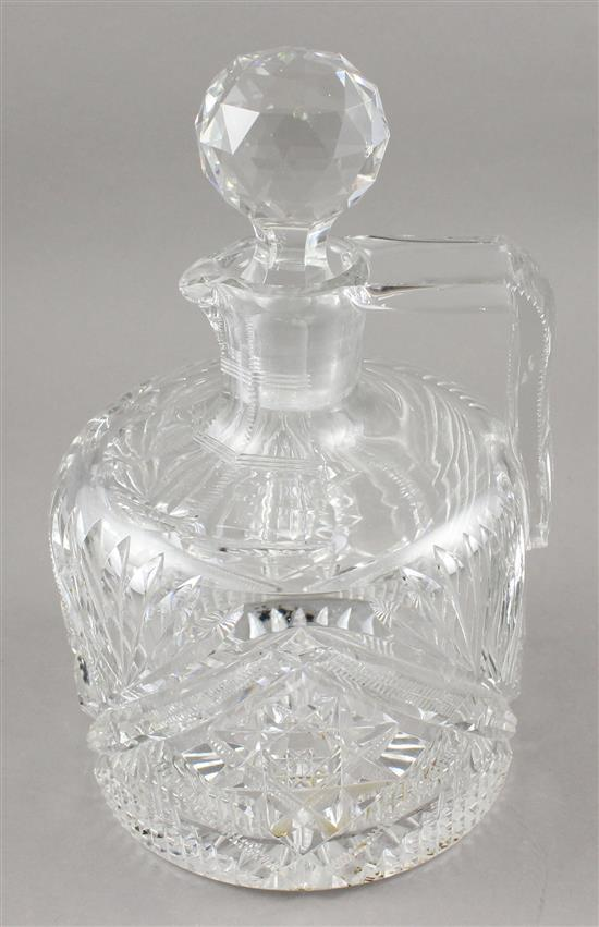 SIGNED HAWKES CUT GLASS WHISKEY JUG