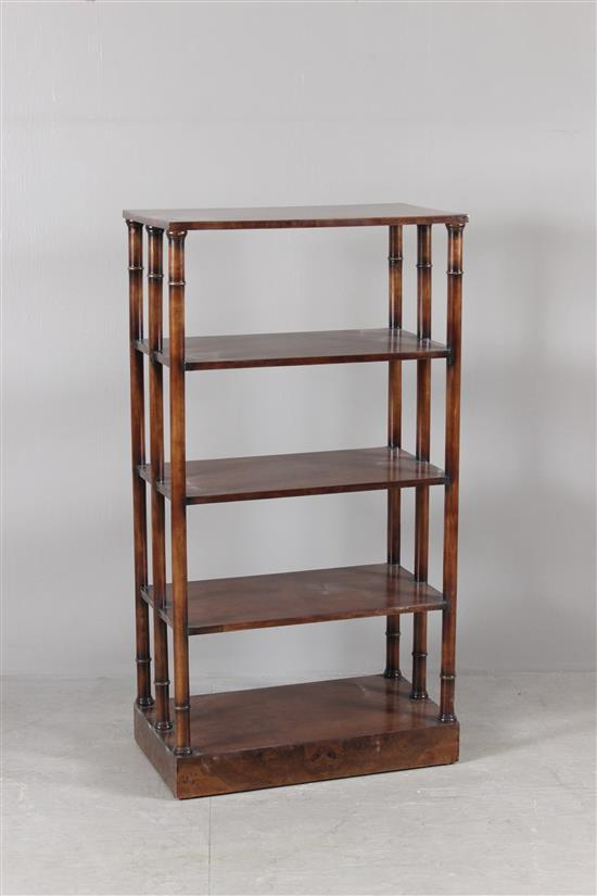 CUSTOM MAHOGANY 5-TIER BOOKSHELF