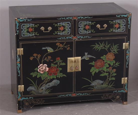 Asian cabinet with 2 doors and 2 drawers 35 x 18 x 30 for 18 x 30 cabinet door