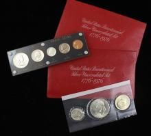 1959 PROOF SET IN CAPITAL STYLE HOLDER AND (2) 1976 BICENTENNIAL SILVER UNCIRCULATED SETS