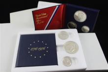 (4) 1976 BICENTENNIAL SILVER PROOF SETS (ONE NO BOX)