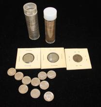MIXED LOT INCLUDING JEFFERSON AND V NICKELS AND INDIAN HEAD AND LINCOLN WHEAT AND MEMORIAL CENTS