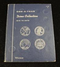 WHITMAN DIME COLLECTION ALBUM INCLUDING MERCURY AND ROOSEVELT DIMES