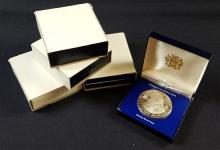 †5 FRANKLIN MINT $10 STERLING SILVER COINS INCLUDING JAMAICA AND TRINDAD TOBAGO *tax exempt*