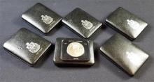 †6 CANADIAN VARIOUS DATE SILVER DOLLARS *tax exempt*