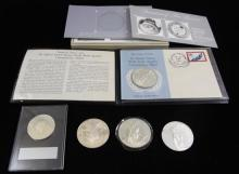 †MIXED LOT INCLUDING FRANKLIN MINT WORLD YOUTH ASSEMBLY STERLING SILVER PROOF, STERLING SILVER PROOF ENCAPSULATED, AND 3 LOOSE FRANKL..