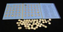 †WHITMAN MERCURY DIME ALBUM WITH 18 COINS AND 48 LOOSE MERCURY AND ROOSEVELT SILVER DIMES *tax exempt*