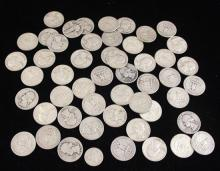 †50 WASHINGTON SILVER QUARTERS AND 1 ROOSEVELT SILVER DIME *tax exempt*