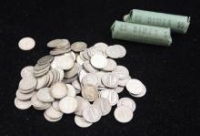 †206 MERCURY AND ROOSEVELT SILVER DIMES AND 2 CANADIAN SILVER DIMES *tax exempt*