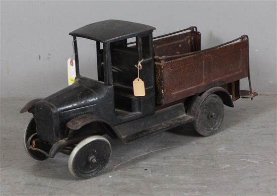 1920'S PRESSED STEEL OPEN BED TRUCK, 27