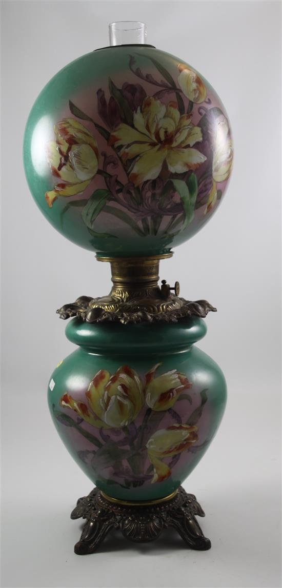 GONE WITH THE WIND LAMP WITH TULIP MOTIF, 28
