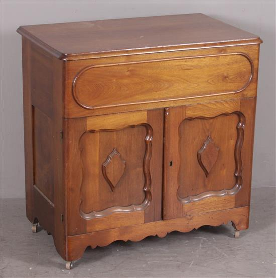 WALNUT VICTORIAN LIFT TOP COMMODE, 31