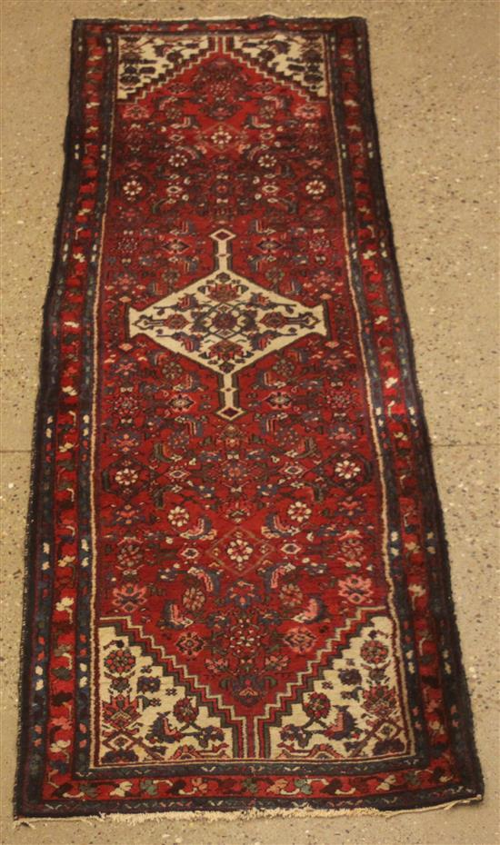 ORIENTAL RUG, ANTIQUE PERSIAN DARAGAZINE RUNNER, 2.6' x 9.1'