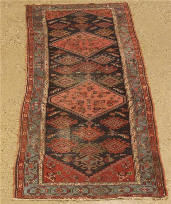 ORIENTAL RUG, ANTIQUE PERSIAN ZANJAN RUNNER, 3.1' x 8.9'