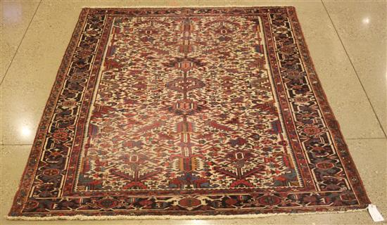 ORIENTAL RUG, ANTIQUE PERSIAN HERIZ, 7.3' x 10.9'