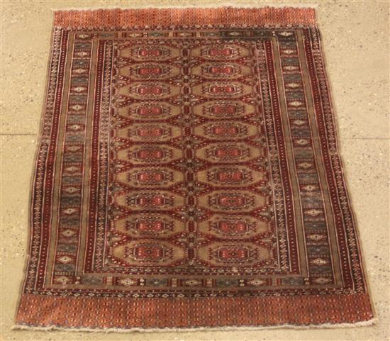ORIENTAL RUG, OLD PAKISTANI BOKARA SILK BLEND, 3.11' x 6'
