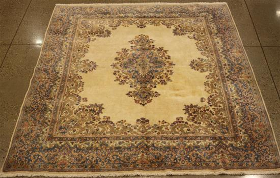 ORIENTAL RUG, OLD PERSIAN KIRMAN, 8' x 10.9'