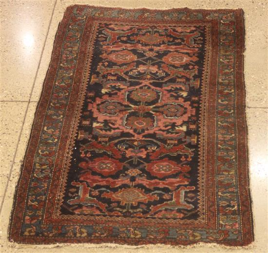 ORIENTAL RUG, ANTIQUE PERSIAN MALAYER, 3.6' x 6.1'