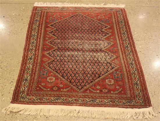 ORIENTAL RUG, ANTIQUE PERSIAN MIR SERABAND, 3.1' x 5'