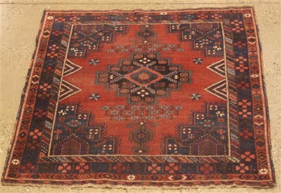 ORIENTAL RUG, ANTIQUE PERSIAN AFSHAR, 4.1' x 5'