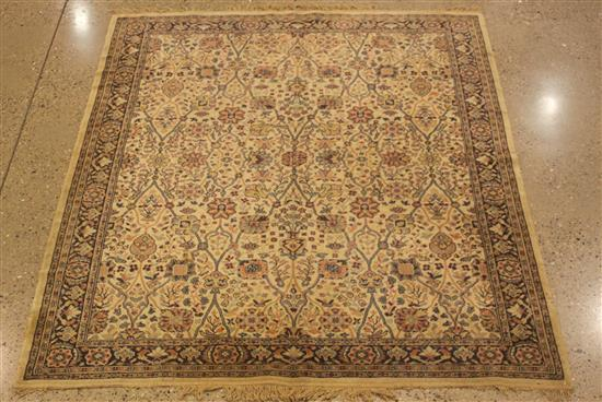ORIENTAL RUG, OLD EUROPEAN ART SILK TABRIZ, 5.9' x 7.7'
