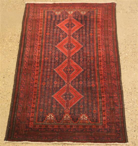 ORIENTAL RUG, OLD PERSIAN BALOUCH, 3.2' x 6.2'