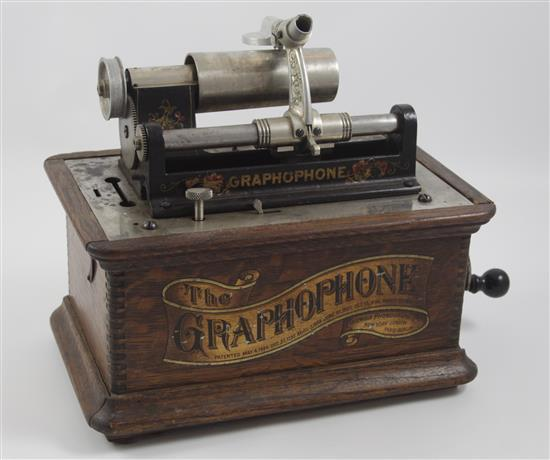 GRAPHOPHONE CYLINDER RECORD PLAYER. TYPE A.T., 12