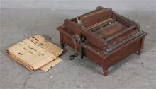 MECHANICAL ORGUINETTE WALNUT VICTORIAN PAPER ROLLER ORGAN. MAY NOT BE COMPLETE, 11
