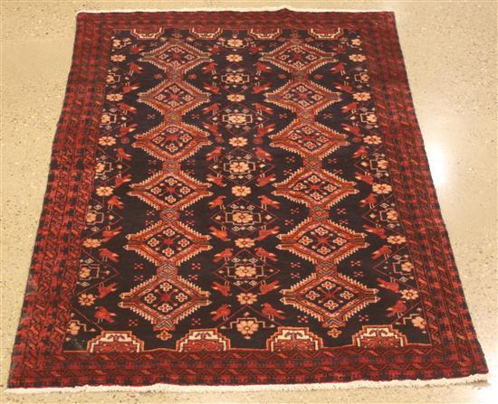 ORIENTAL RUG, SEMI ANTIQUE PERSIAN BALOUCH, 4.7' X 7.9'