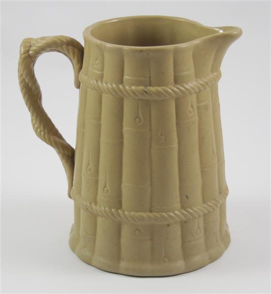ENGLISH EARTHENWARE PITCHER SIGNED