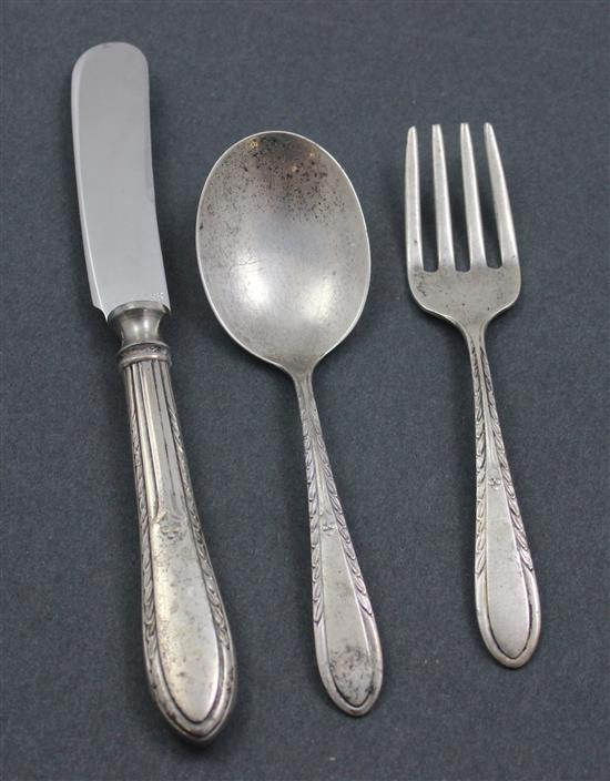 3 PIECE WEBSTER STERLING SILVER CHILDREN'S FLATWARE SET WITH ORIGINAL BOX, SPOON 4