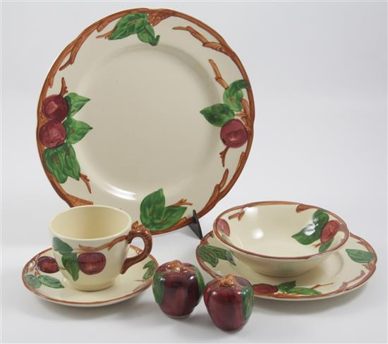 79 PIECES FRANCISCAN APPLE DINNERWARE
