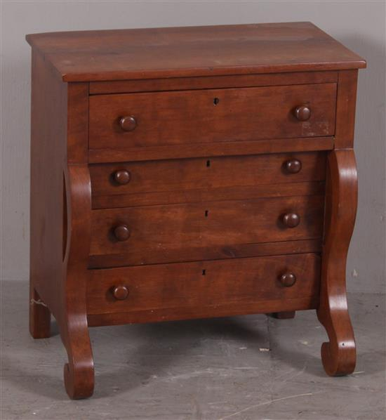 CHERRY MINIATURE EMPIRE STYLE CHEST, 16