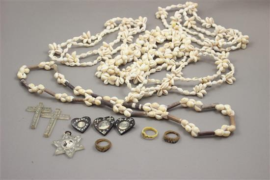 LOT GIFTED TONGA TABU AFRICAN JEWELRY DURING WW II