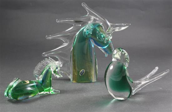 3 MURANO GLASS FIGURES INCLUDING 11