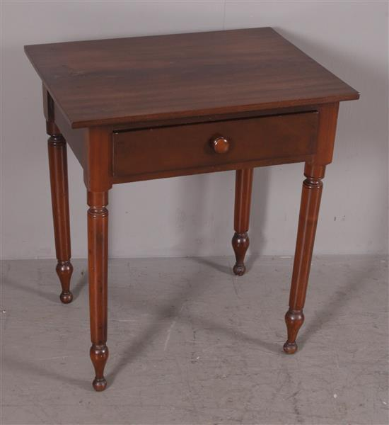 SHERATON MIXED WOOD ONE-DRAWER WORK TABLE, 25.5