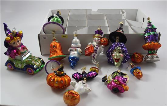 13 CHRISTOPHER RADKO HALLOWEEN ORNAMENTS, 2.5