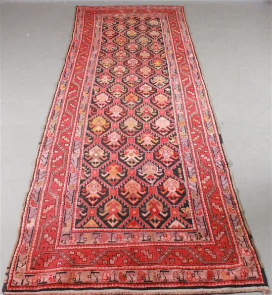 ORIENTAL RUG,  ANTIQUE PERSIAN 3.8' x 11.5'
