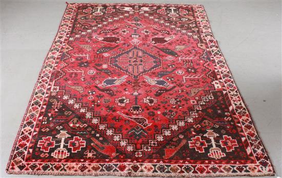 ORIENTAL RUG, SEMI ANTIQUE PERSIAN PICTORIAL, 7.3' X 5.3'
