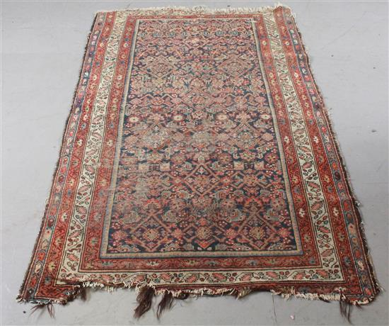 ORIENTAL RUG, ANTIQUE PERSIAN , 4' x 6.5'