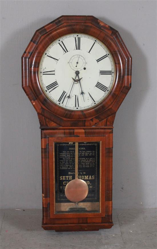 SETH THOMAS WALL REGULATOR CLOCK, 40
