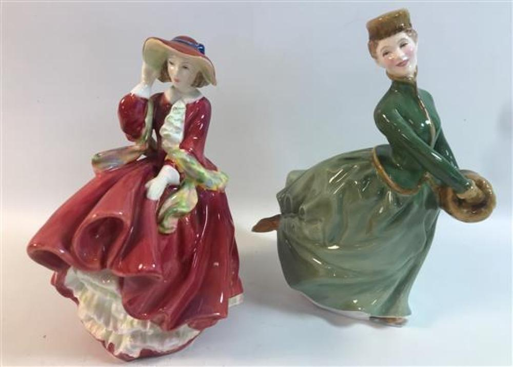 """2 ROYAL DOULTON FIGURINES - """"TOP ''O THE HILL"""" AND """"GRACE,"""" 7½"""" AND 8"""""""