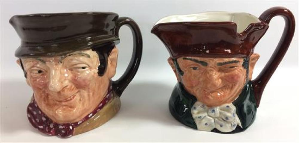 """2 ROYAL DOULTON LARGE CHARACTER JUGS - """"OLD CHARLEY"""" AND """"SAM WELLER"""""""