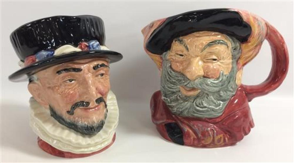 """2 ROYAL DOULTON LARGE CHARACTER JUGS - """"FALSTAFF"""" AND """"BEEFEATER"""""""