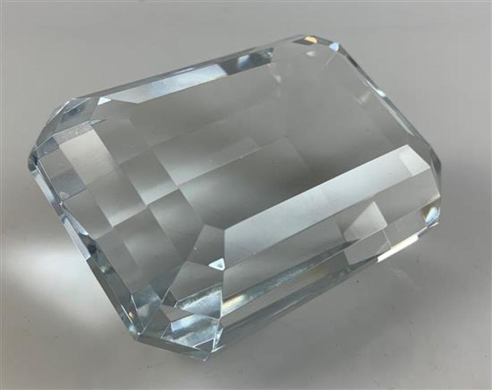 """TIFFANY & CO CRYSTAL PAPERWEIGHT, 4""""x 2¾""""x 2"""""""