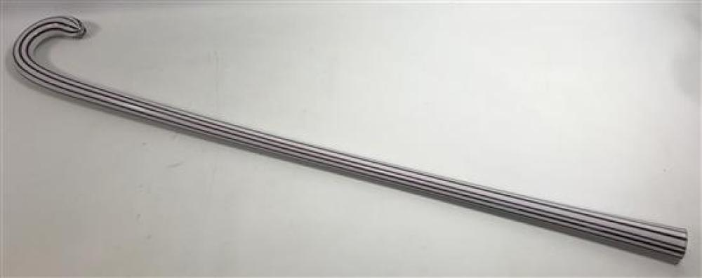 """GLASS PARADE CANE WITH DARK PURPLE STRIPES, 39""""****can not be shipped in house*****"""