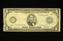 SERIES 1914 LARGE FIVE DOLLAR FEDERAL RESERVE NOTE